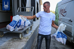 The second day of Qurbani distribution at Mitrovica, Kosovo.