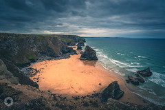 Coastal View (RTA Photography) Tags: bedruthansteps cornwall coast atlantic waves sea ocean blue sand beach rocks cliffs sky nature outdoors rtaphotography nikon d750 wideangle light clouds weather