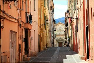 Rue de Bréa, Menton, Alpes-Maritimes, Provence-Alpes-Côte d'Azur, France