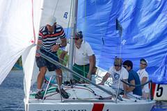 KRYC CUP 2014-4355 (amprophoto) Tags: sail sailing sailingyacht sailboat yachtrace regatta water wind white blue beneteau platu25 peoples sky sport spinnaker fun smile
