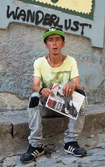 Roue, Porto (Charles Hamilton Photography) Tags: streetphotography characterstudy colourstreetportrait porto backstreet stranger summer naturallight primelens nikond750 charleshamilton streetportrait grafitti peopleinthecity homeless