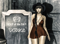 Soup of the Day - Vodka (~GraceSixpence~) Tags: catwa empyreanforge fameshed letre limerence maitreya stun theimaginarium theliaisoncollaborative theskinnery vanityevent vex ~chicmoda~ sl slfashion secondlife slhairstyle