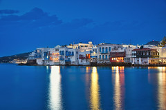 Little Venice & Blue Hour (Luís Henrique Boucault) Tags: aegean amazing architecture beach beautiful blue building cafe city cityscape colorful dreamy europe exposure famous greece greek holiday hour island landmark landscape little long magical mykonos nature old panoramic romantic scene scenery scenic sea sky skyline summer sunrise sunset tourism town traditional travel vacation venice view water waterfront waves white