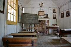 School - Credit to https://www.semtrio.com/ (Semtrio) Tags: abandoned architecture blackboard chair chalkboard classroom daylight desk fireplace frame indoors inside interior design old photography room school seat table window wood wooden