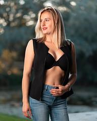 By The Pond (Daniel Medley) Tags: jordanriverparkway blond blonde portrait sexy woman godox xplor nikon d750 85mm18g