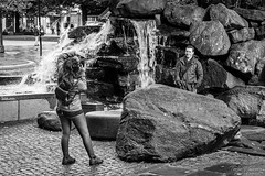 """Photoshoot"" (Terje Helberg Photography) Tags: bw blackandwhite bnw candid citylife cityscape citywalk couple man mono monochrome outdoor outside people photosession photograper photographing photoshoot street streetphotography streetlife urban waterfall woman"