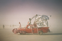 Burning Man 2018 - Art Car (andy6white) Tags: burningman burningman2018 burner desert dust festival burningmanfestival burningmanfestival2018 irobot burningmanirobot sand sandstorm wind glow light hazy dusty creative art playa playadust city temporary temporarycity moop gathering