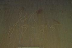 ? (1985) (TheGraffitiHunters) Tags: graffiti graff spray paint street art colorful benching benched freight train tracks moniker streak markal 1985