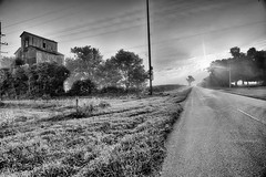 Morning with the Tin Man (kendoman26) Tags: hdr nikhdrefexpro2 niksilverefexpro2 niksoftware monochrome blackandwhite nikon nikond7100 tokinaatx1228prodx tokina tokina1228 grundycountyillinois rural ruralscene