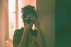 fuji moi (Tamar Burduli) Tags: analog film color 35mm people portrait selfportrait autoportrait tamarburduli pentax fuji mirror selfie green grain test camera