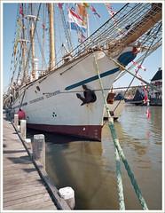 Tall ship Grossherzogin Elisabeth (macfred64) Tags: film analog mediumformat 120 645 6x45 fujiga645wi ebcfujinon45mmf4 colr kodakektar100 harlingen thenetherlands thetallshiprace2018