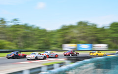 Traffic at the End of a Straight (joemanganelli) Tags: racing calculate porsche club boxster