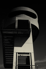 Tower Watching (aha42 | tehaha) Tags: germany hafencity hamburg tyskland architecture blackandwhite bw monochrome watchtower de