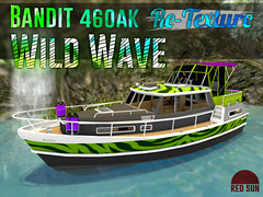 Bandit 460AK Re-Texture Wild Wave (cuuka) Tags: cuuka red sun texture paint bandit 460 ak boat painting wild wave green grey