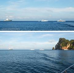 2 (Phuketian.S) Tags: yacht superyacht radiantsuperyacht sunset sea ocean phiphi island rock mountain beach boat vehicle sky catamaran thailand phuket luxury vip nature lanscape phuketian