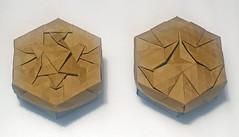 Desert village tessellation boxes (mganans) Tags: origami tessellation box