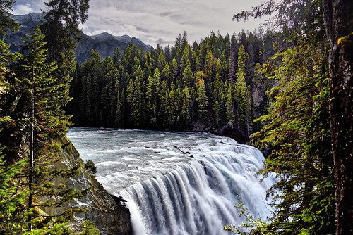 The Rushing Waters of the Kicking Horse River Over Wapta Falls (HDR, Yoho National Park)