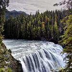 The Rushing Waters of the Kicking Horse River Over Wapta Falls (HDR, Yoho National Park) thumbnail