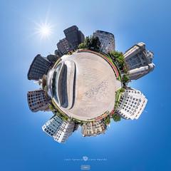 Bilbao - Plaza Moyúa (Juan Ig. Llana) Tags: bizkaia bilbao ciudad plazamoyúa fuente edificio cielo littleplanet panorámica esférica 360 gigapan epicpro