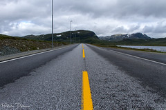 Steinklepp - Norway (Melvin Debono) Tags: road middle yellow line black white melvin debono photography canon 7d travel nature clouds cloudy laerdal kommune sogn og fjordane