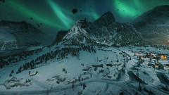 Battlefield 5 (screenreel) Tags: battlefield5 worldwar mountain snow sky clouds lights glow mountainside action combat air house night cold white graphics frostbyte engine ea
