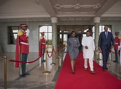 La Ministre Louise Mushikiwabo en visite à Burkina Faso, dans le cadre de sa campagne pour le poste de Secrétaire Général de l'Organisation Internationale de la Francophonie . Le 10 Septembre 2018 (LM Francophonie) Tags: louise mushikiwabo francophonie burkina faso