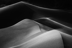 Death Valley Dunes in Black and White (Jeffrey Sullivan) Tags: deathvalley nationalpark sand dunes black white death valley national park adobe lightroom on1 silver efex landscape nature photography workshops california usa travel wind weather windy contrast dark