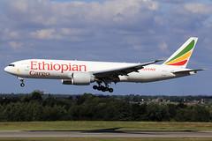 Ethiopian Cargo  Boeing 777-F6N ET-APU (widebodies) Tags: liege lüttich lgg eblg widebody widebodies plane aircraft flughafen airport flugzeug flugzeugbilder ethiopian cargo boeing 777f6n etapu