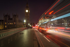 Phasing (dolbinator1000) Tags: westminster bridge london uk england big ben light stream long exposure car bus people history historic parliament capital capitol city scape cityscape dark night sony alpha a58 road street