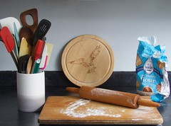 2216 Baking day (Andy - Well busy - again) Tags: bag bbb ccc cream cuttingboard fff flour pot ppp pyrograph pyrography rollingpin rrr spatular sss utensils uuu wood www xxx xyloid xylopyrograph xylopyrography
