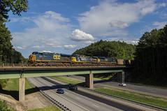 CSX E904-02 at Acworth (travisnewman100) Tags: csx train railroad rr freight unit coal bridge ge ac44cw es44ah wa subdivision atlanta division e904 scwx es40dc locomotive