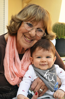 Aquí con la abuelita Negrita.