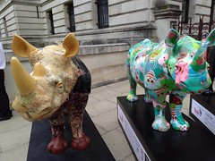 UK - London - Whitehall - Tusk Rhino Trail - Rhinoceros (JulesFoto) Tags: uk england london trafalgarsquare rhino sculpture tuskrhinotrail rhinoceros