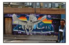 STREET ART by TUISTER (StockCarPete) Tags: tuister streetart londonstreetart urbanart graffiti pegasus wingedhorse london uk