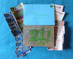 Erica's 21st Birthday Card (genesee_metcalfs) Tags: gifts family card daughter birthday lottery