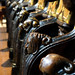 Medieval choir stalls in Malvern Priory