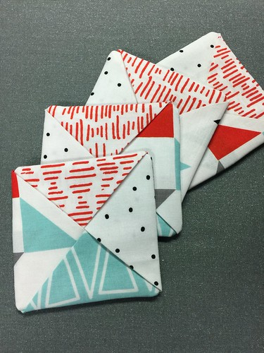 set of coasters - fabric coasters