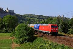 185 379-5 DB Cargo (Zugbild) Tags: bahn zug dbag rail eisenbahn lokomotive br185 rudelsburg saaleck bad burgenland badkösen kesselzug sachsenanhalt