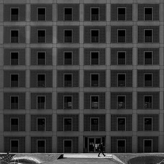 Stadtbibliothek Stuttgart (morbs06) Tags: eunyoungyi mailänderplatz stadtbibliothek stuttgart abstract architecture building bw city concrete geometry library light lines repetition square stripes texture wall windows