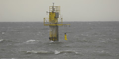 Stormy weather on the river Ems - level meter (Manfred_H.) Tags: northsea nordsee storm sturm wellen waves levelmeter pegelmesser