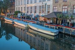 Bruges, Belgium-01714 (gsegelken) Tags: belgium bruges vantagetravel boat canal night reflection