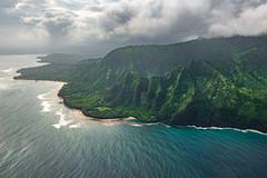 Shoreline (nils stefan püschel) Tags: island paradise green view coast water ocean mountain waves clouds