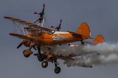 Wingwalkers (Hawkeye2011) Tags: aircraft aviation airshow aerobatics farnborough uk 2018 biplane wingwalkers boeing stearman