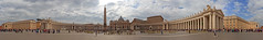St. Peter's Square 360° Panorama (herbraab) Tags: 360 rome vatican stpeter panorama italy canoneos550d city