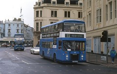 Dominators in Brighton. (Renown) Tags: bus doubledecker dennis dominator eastlancs brighton transport corporation municipal sussex c718ncd