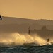 Evening kite surfer enjoying Storm Bronagh