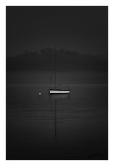 Drifting (bprice0715) Tags: canon canoneos5dmarkiii canon5dmarkiii landscape landscapephotography nature naturephotography blackandwhite bw blackwhite monochrome mono moody minimalism fineart highcontrast lowkey water ocean reflection boat sailboat capecod pointofrocksbeach peaceful serene newengland