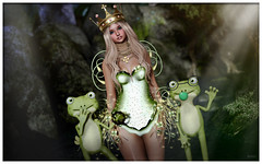 good evening 180822 (reina.alice) Tags: secondlife fashion bauhausmovement accessories lessucreriesdefairy dress yourdreams frog fairy fantasy