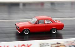 Escort_2388 (2) (Fast an' Bulbous) Tags: classic oldtimer car vehicle automobile drag race track strip motorsport santa pod outdoor racecar nikon d7100 gimp panning