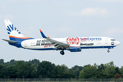 D-ASXB (mabrue01) Tags: airport aircraft planespotting boeing 737800 sunexpress eintrachtfrankfurt